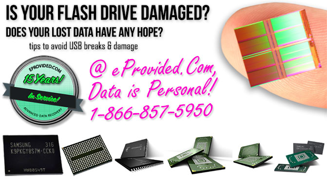 Flash Drive Recovery Services Firm eProvided, Top 10 Tips to Avoid Breaks to USB Drives & USB Damage Prevention.