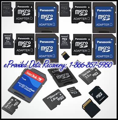 eProvided microSD and SD Card Recovery Services