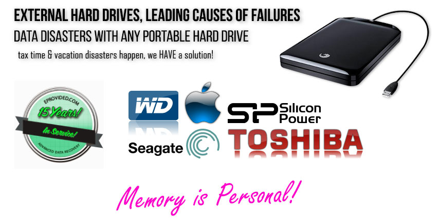 External Hard Drive Recovery & Portable Hard Drive Data Recovery Solutions at eProvided.Com