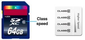 SD Card Data Recovery Class Speeds.