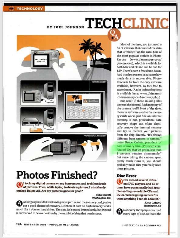 eProvided's Bruce Cullen Popular Mechanics Magazine